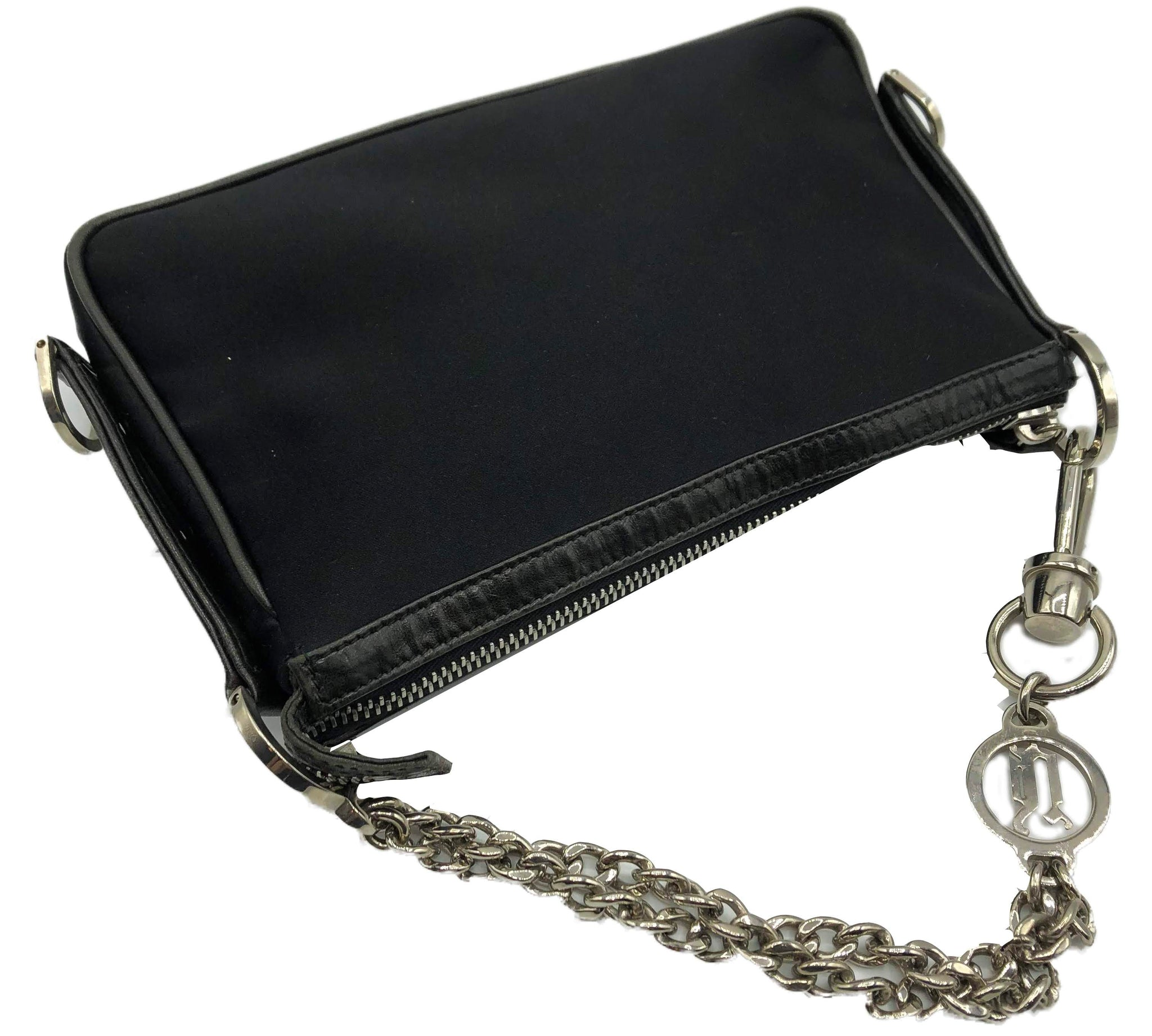 Versace 90s Black Nylon Pochette 2 of 4