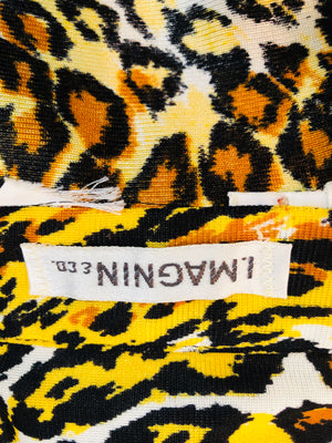 70s Leopard Print Poly Disco Shirt LABEL 4 of 4