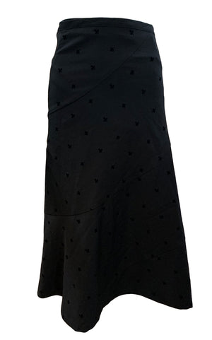 Comme des Garcons Early 2000s Black Wrap Asymmetrical Skirt BACK 2 of 5