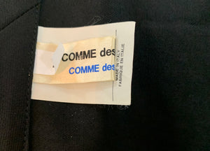 Comme des Garcons Early 2000s Black Wrap Asymmetrical Skirt LABEL 5 of 5