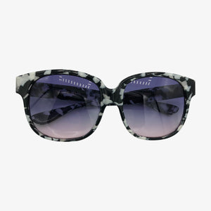 Emmanuelle Khanh Black and White Marbled Sunglasses  OPEN 1 of 4