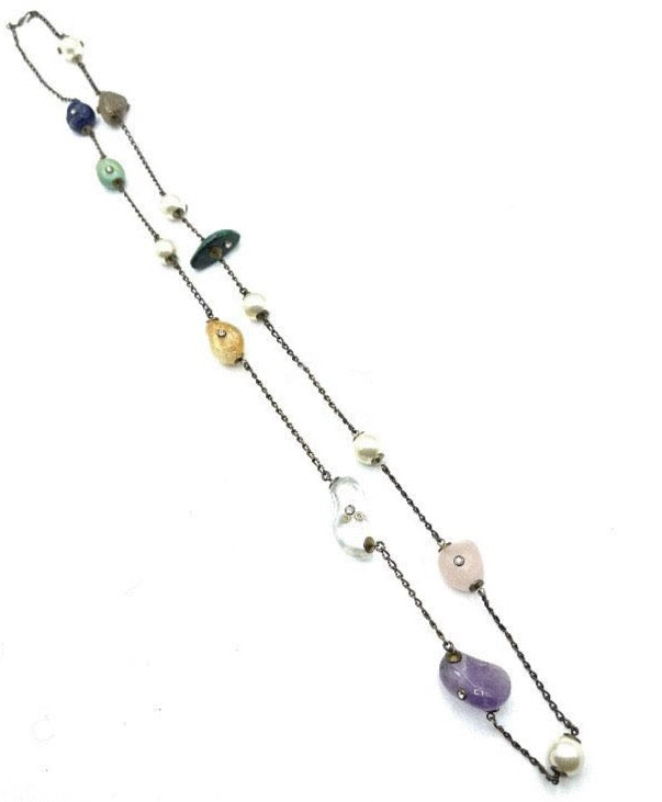Chanel Semi Precious Stone Necklace FULL LENGTH 1 of 4