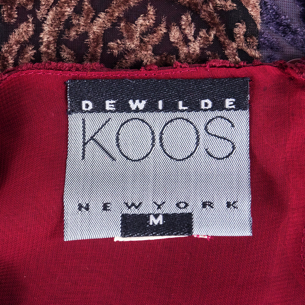 90s KOOS VAN DEN AKKER Cut Velvet Patchwork Tunic Mini, label