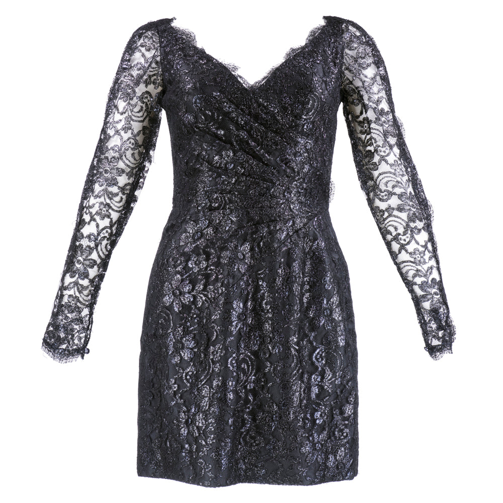 Vintage AZZARO 80s Metallic Lace Cocktail Dress – THE WAY WE WORE