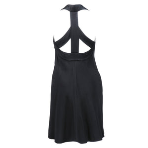 "Vintage MOSCHINO 90s Black ""Peace"" Dress, back"