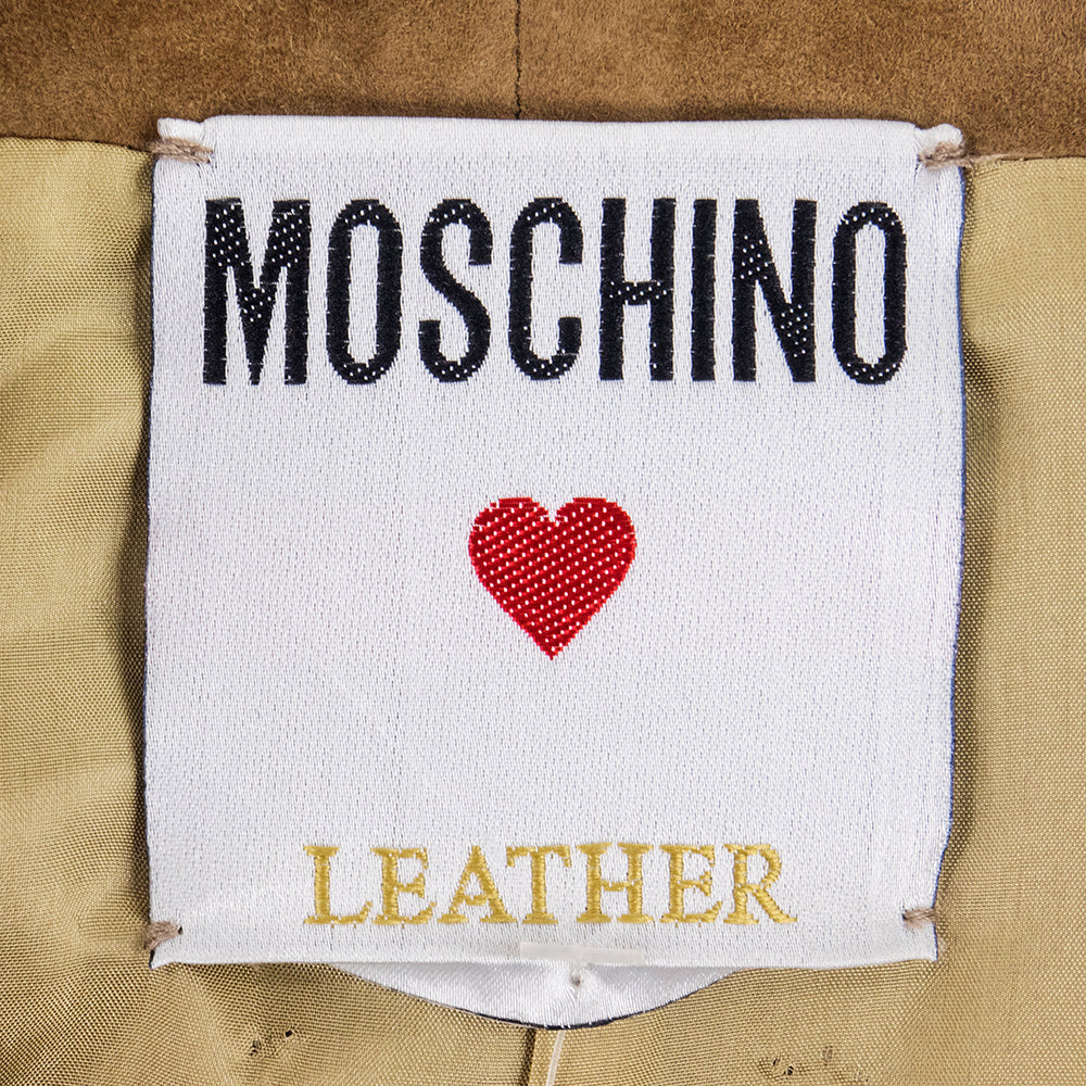 Vintage MOSCHINO 90s Suede Western Ensemble