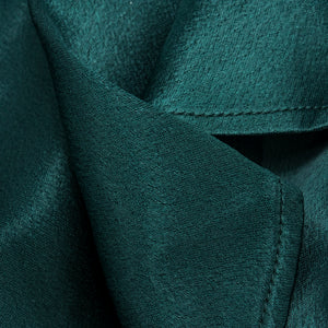 Vintage KAMALI 80s Green Satin Gown, detail 1