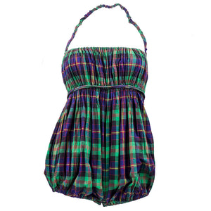 Vintage MCCARDELL 50s Plaid Cotton Playsuit