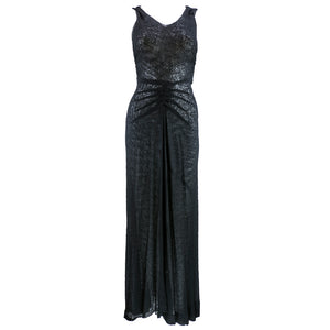 Vintage 30s Bias-Cut Couture-Finish Evening Gown, front