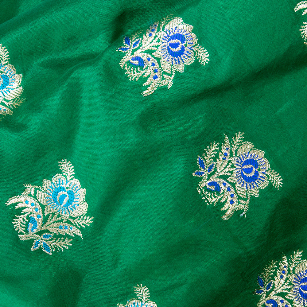 Emerald Green Beaded Traditional Afghani Dress, detail 3