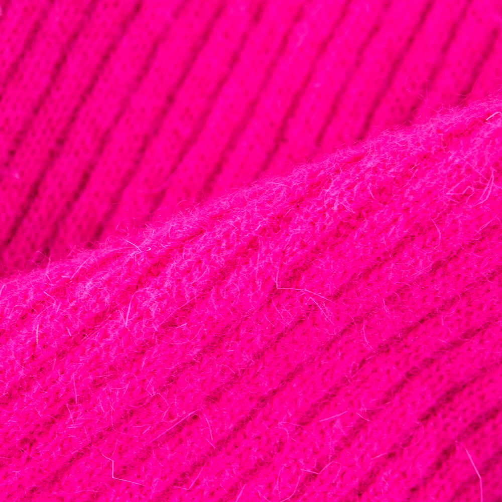 xVintage KELLY 80s Magenta Bodycon Scoop-Back Dress, detail 2