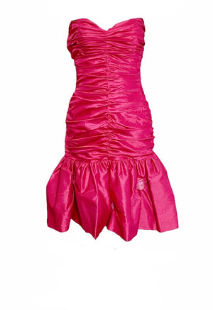 Loris Azzaro Fuschia Ruched Mini Dress  FRONT 1 of 4