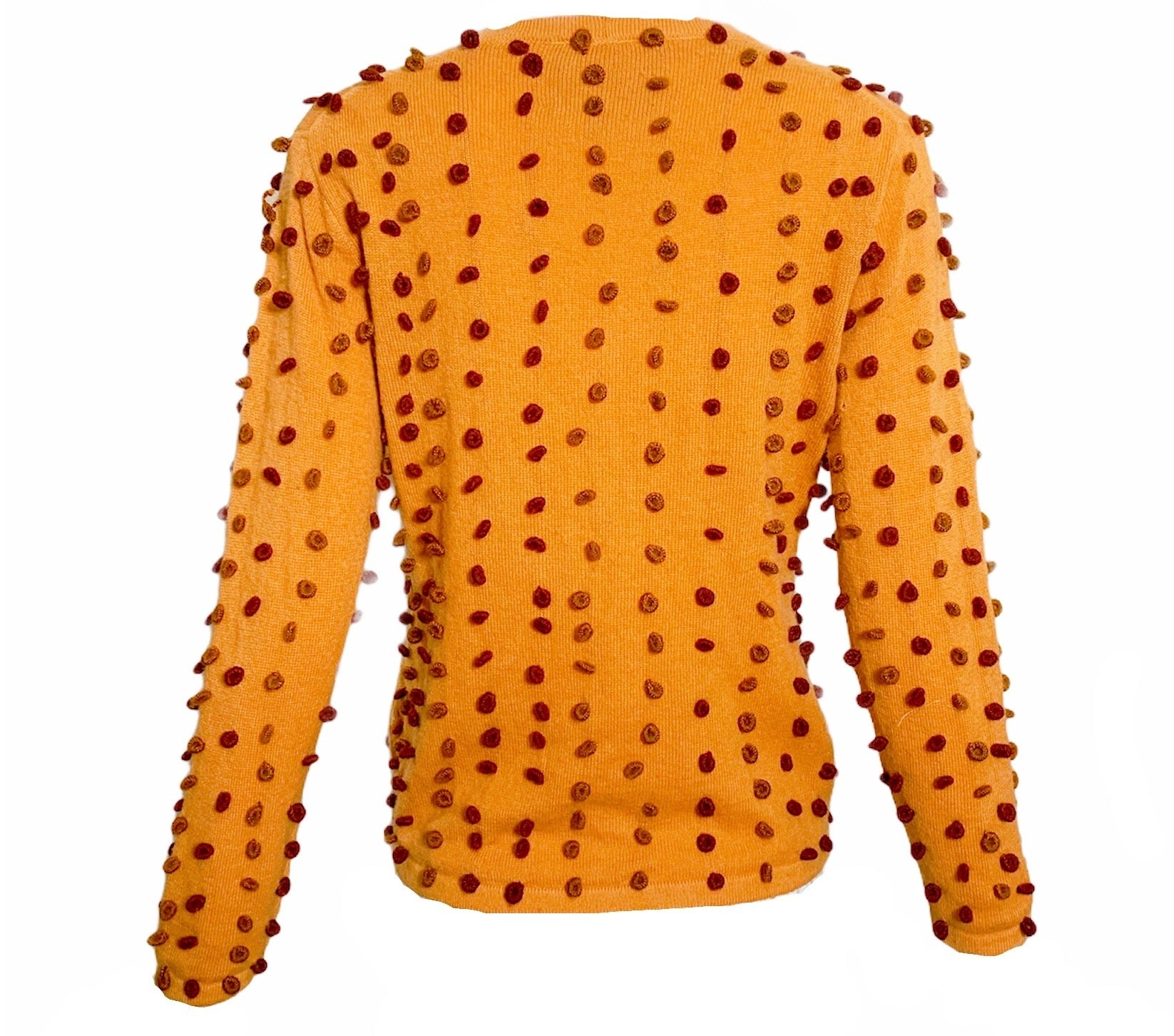Libertine Handmade Pumpkin Wool Blend 3D Cardigan   BACK 2 of 3