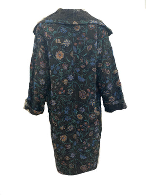 Emanuel Ungaro for Parellele 80s Copper Metallic Brocade Evening Coat BACK 2 of 5