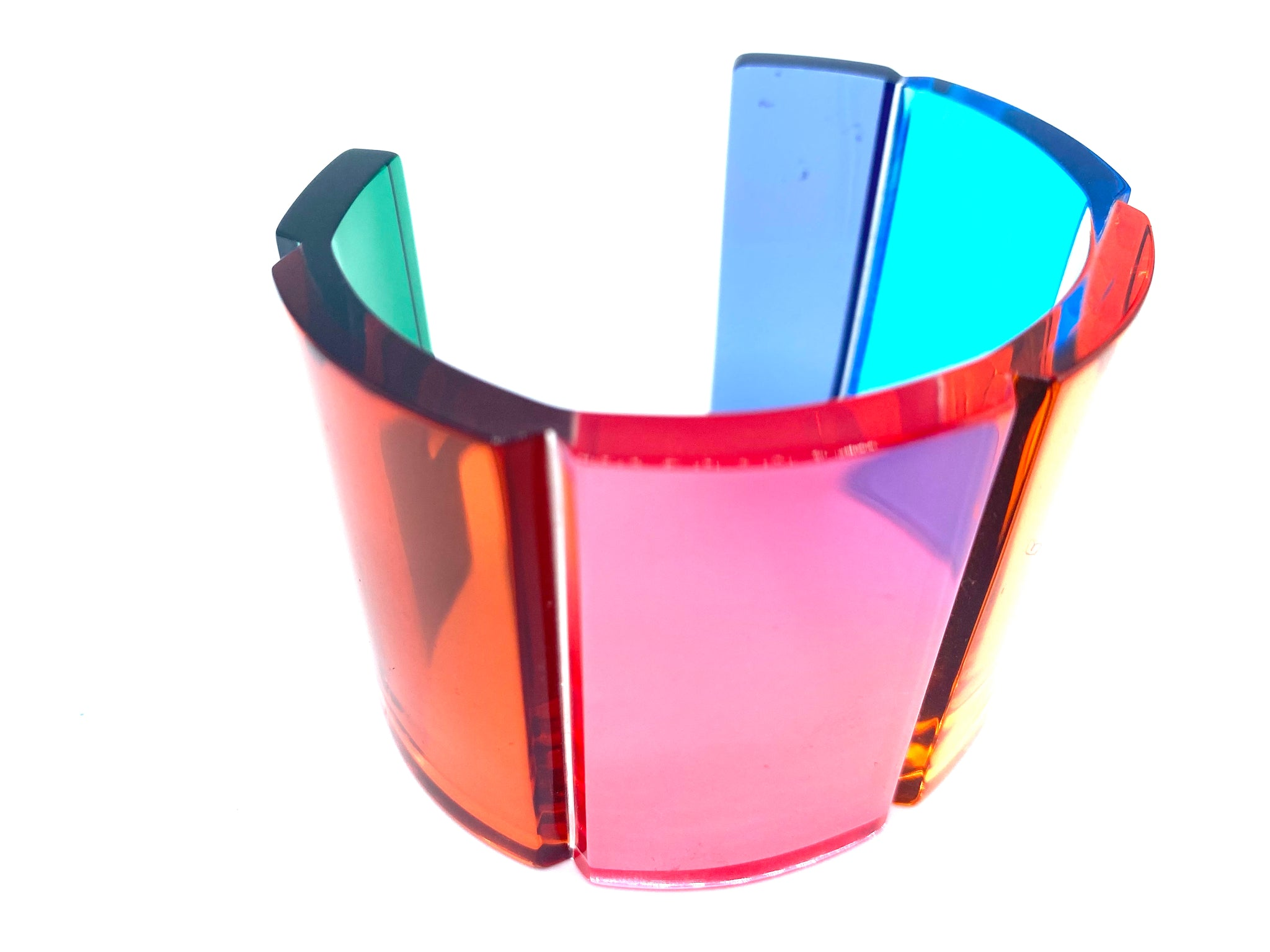 Valentino Lucite Rainbow Cuff Bracelet with Box ANGLE 1 2 of 6