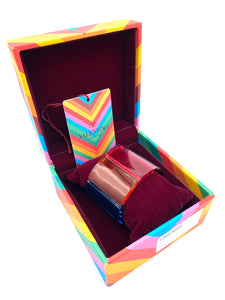 Valentino Lucite Rainbow Cuff Bracelet with Box IN BOX 1 of 6
