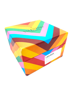 Valentino Lucite Rainbow Cuff Bracelet with Box  BOX 5 of 6