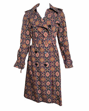 Dorso 70s Paisley Trench Coat FRONT 1 of 5