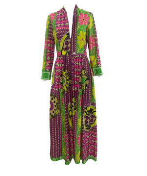 Bernice Lang 70s Psychedelic Maxi Dress UNZIPPED 2 of 6