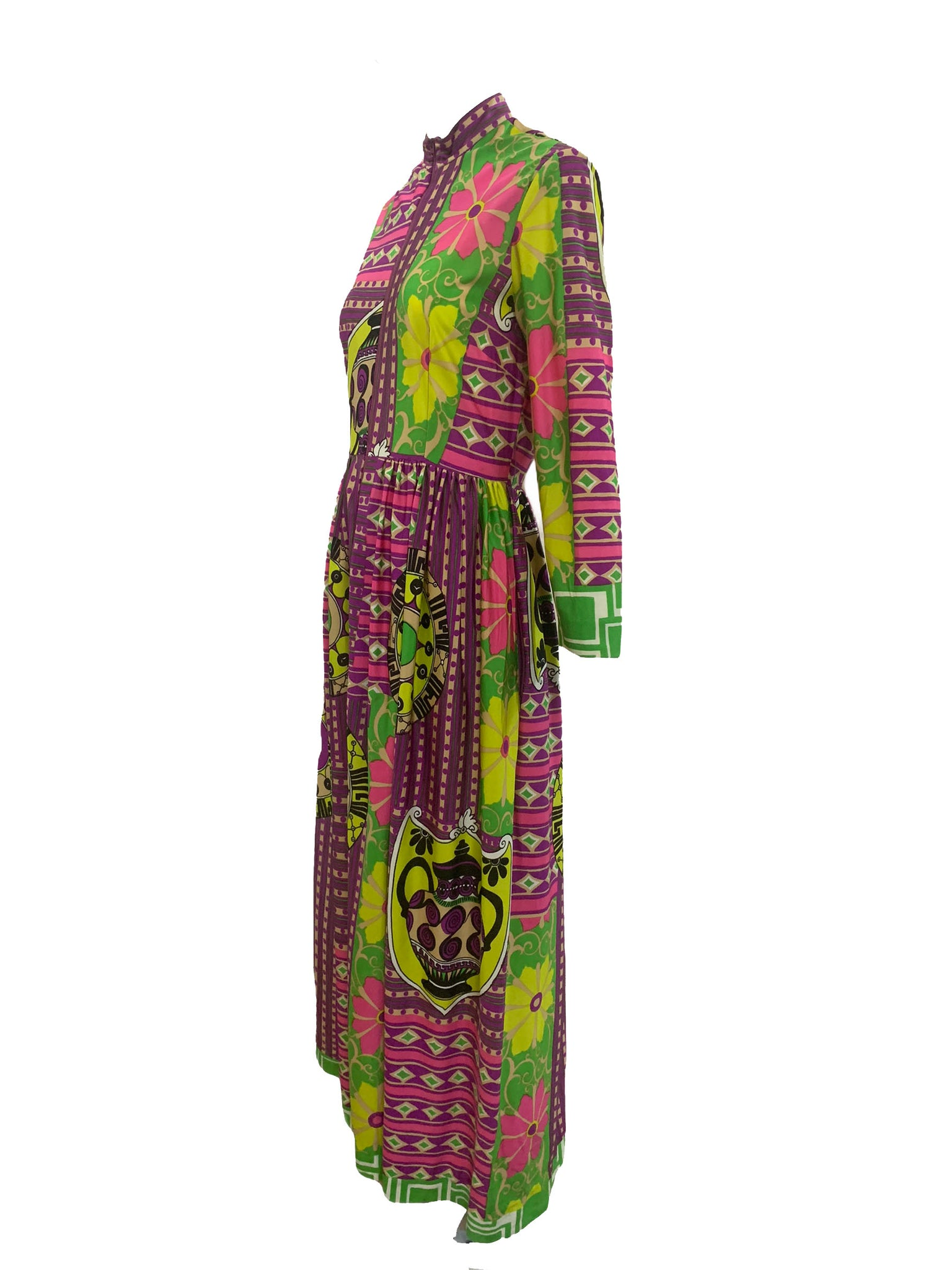 Bernice Lang 70s Psychedelic Maxi Dress SIDE 3 of 6