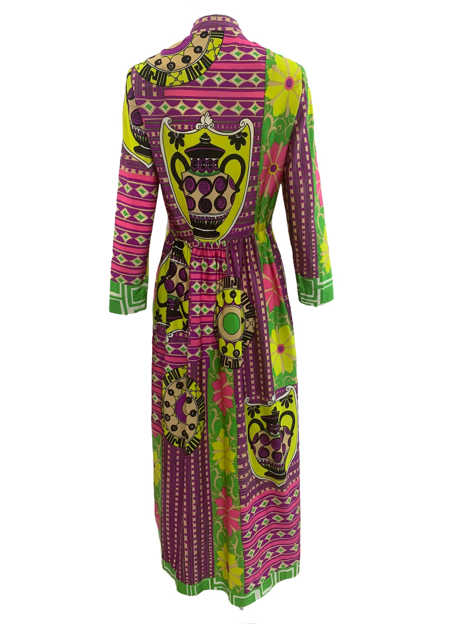 Bernice Lang 70s Psychedelic Maxi Dress BACK 4 of 6