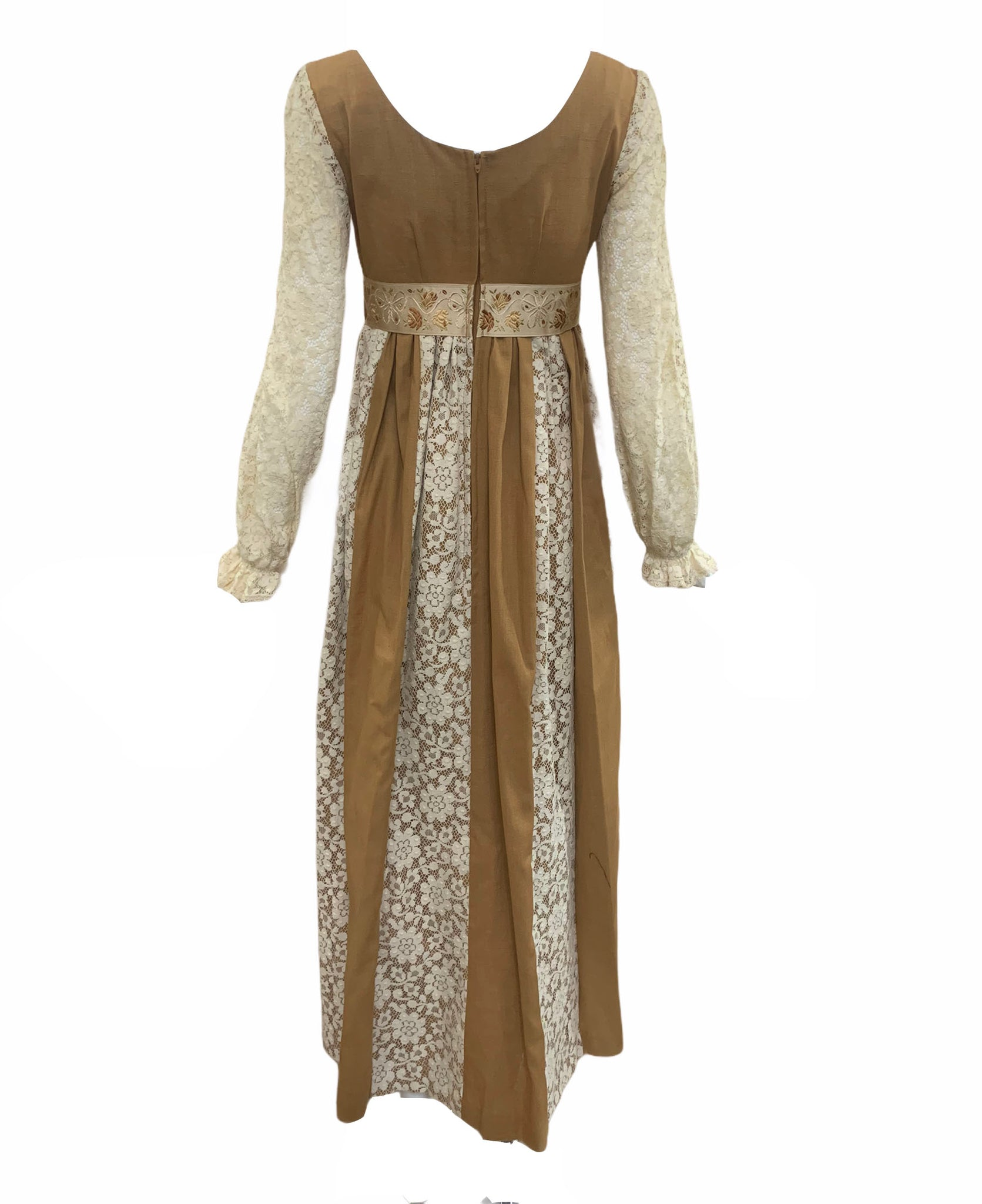 Couriers Golden Harvest 70s Princess Style Maxi BACK 2 of 5