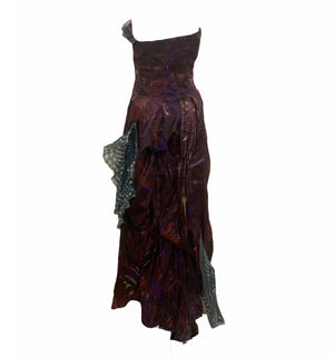 Christian Lacroix Boldly Printed Strapless Gown BACK 3 of 5