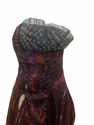 Christian Lacroix Boldly Printed Strapless Gown BODICE 4 of 5