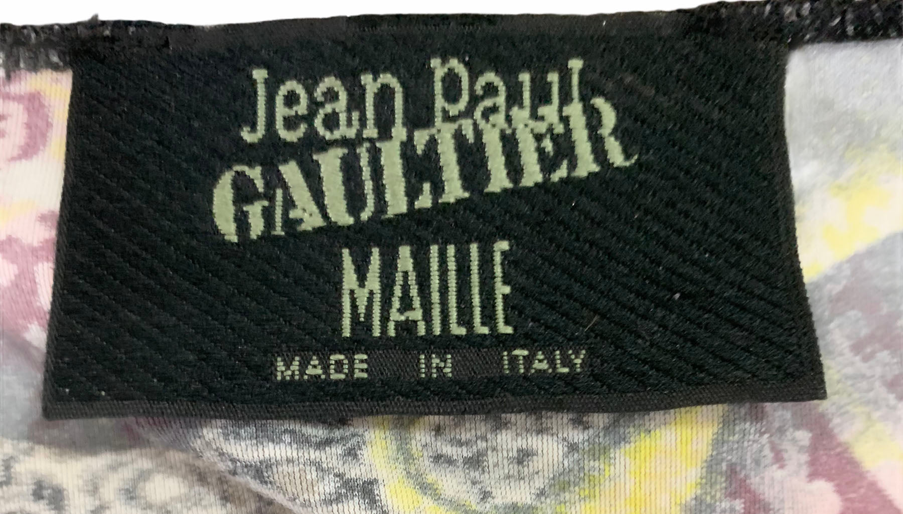 Gaultier Early 2000s Paisley Print Jersey Tee LABEL4 of 4