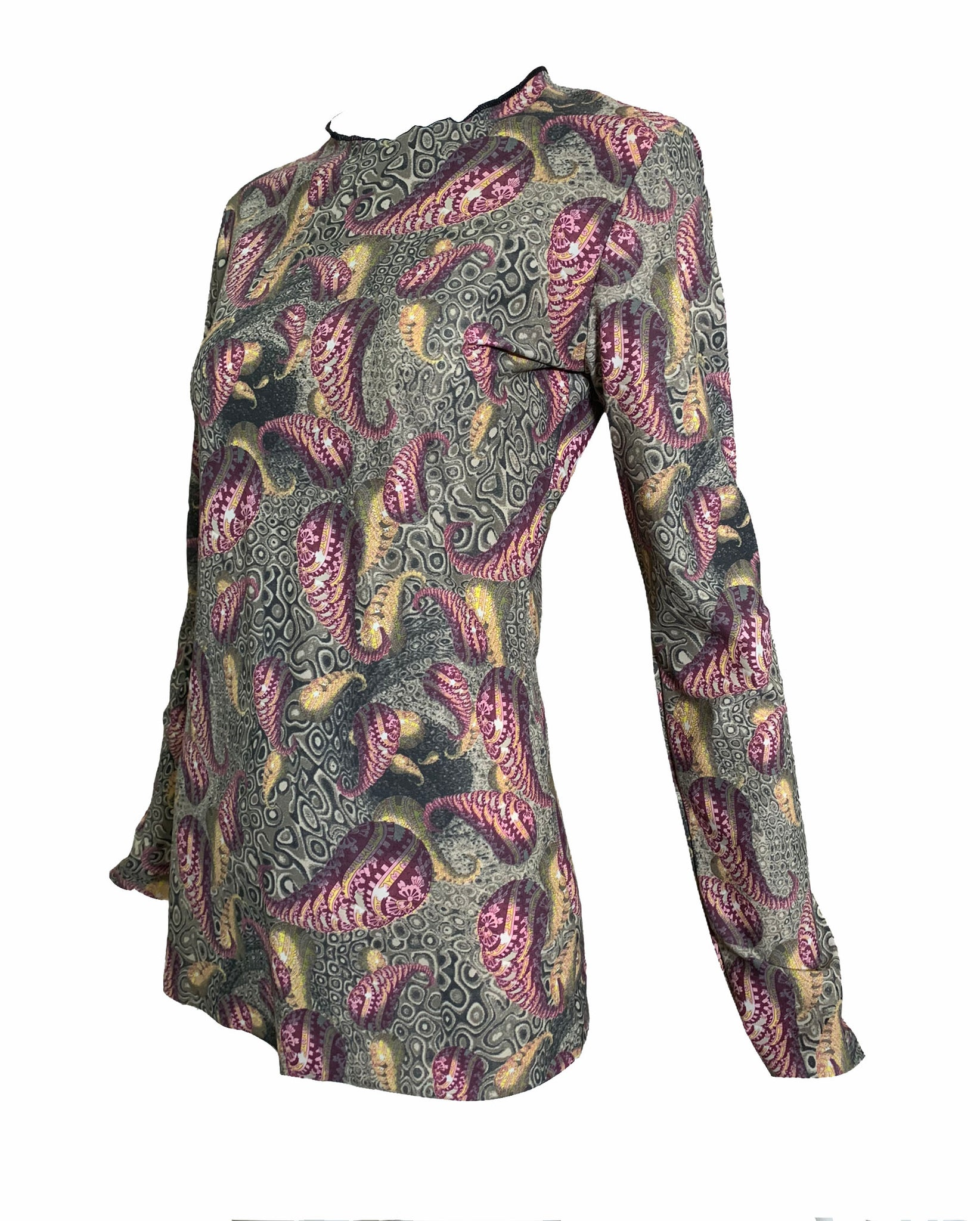 Gaultier Early 2000s Paisley Print Jersey Tee SIDE 2 of 4