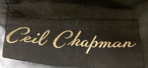 Ceil Chapman Gorgeous Black Taffeta Cocktail Dress LABEL 5 of 5