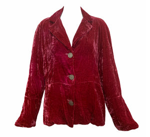 People of the Labyrinths Rasberry Velvet Jacket FRONT 1 of 4