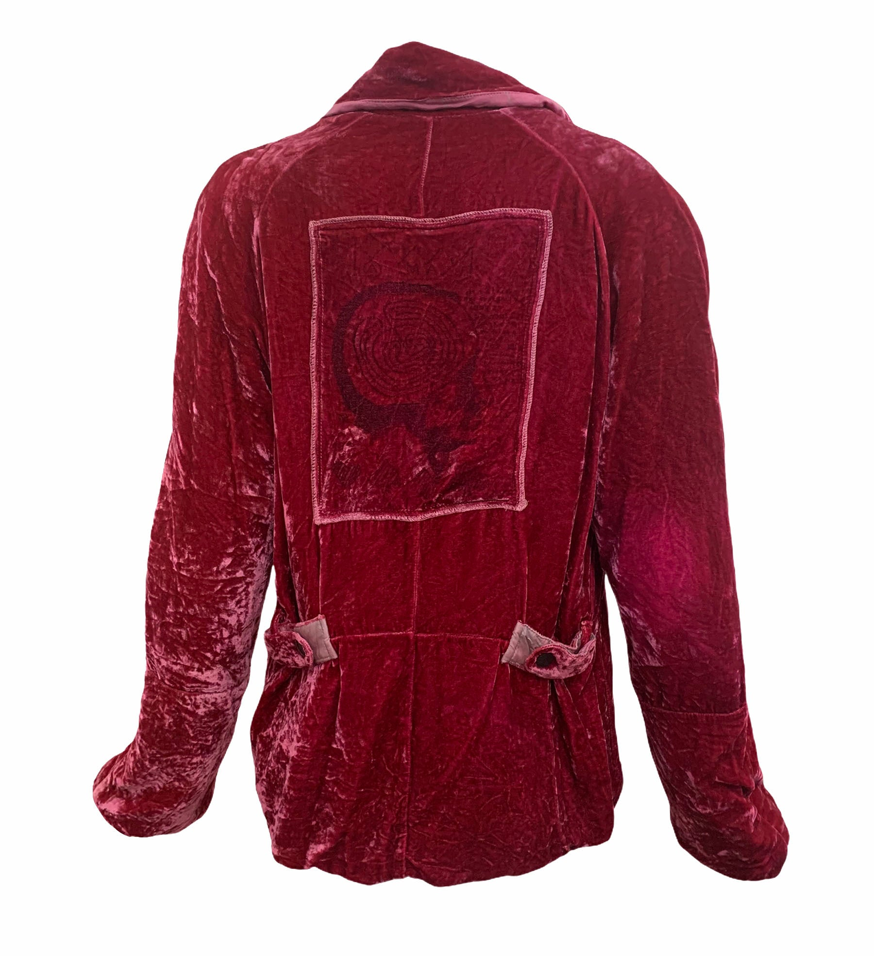People of the Labyrinths Rasberry Velvet Jacket BACK 3 of 4