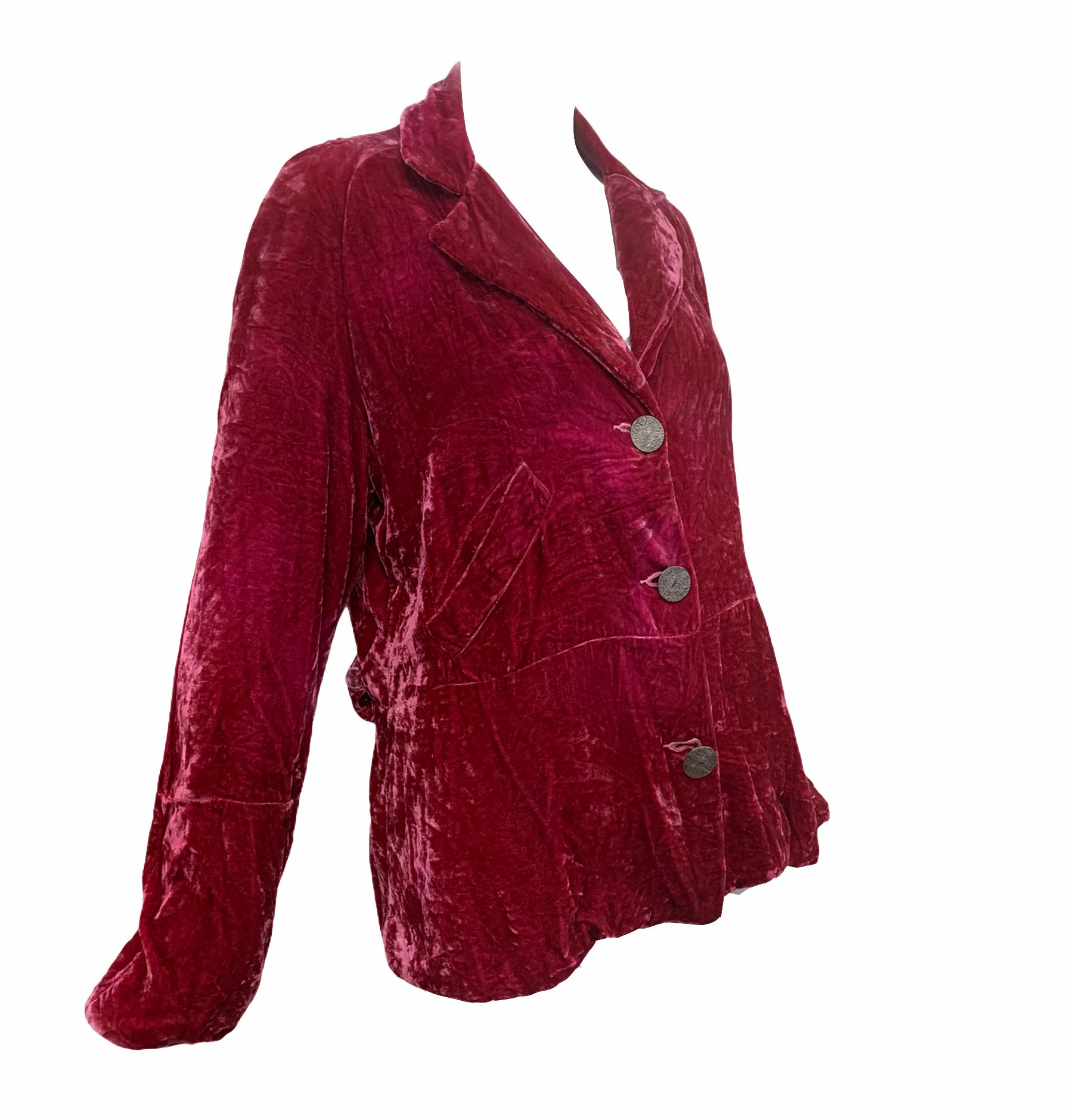 People of the Labyrinths Rasberry Velvet Jacket SIDE 2 of 4