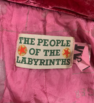 People of the Labyrinths Rasberry Velvet Jacket LABEL 4 of 4