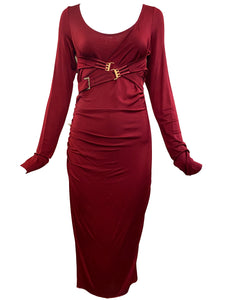 Tom Ford era Gucci Slinky Red Jersey Dress