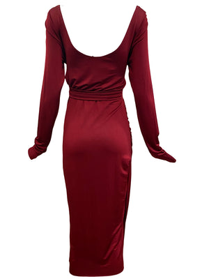 Tom Ford era Gucci Slinky Red Jersey Dress BACK 2 of 4