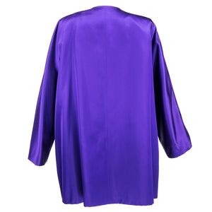 Vintage YSL 80s Purple Satin Evening Jacket, back