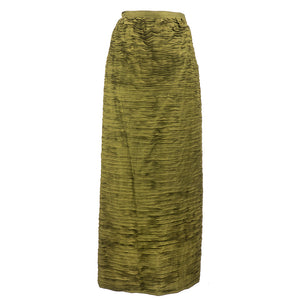 Vintage CONNOLLY 50s Deep Olive Green Evening Skirt