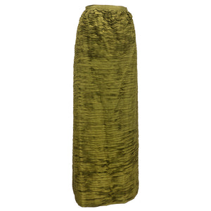 Vintage CONNOLLY 50s Deep Olive Green Evening Skirt, side