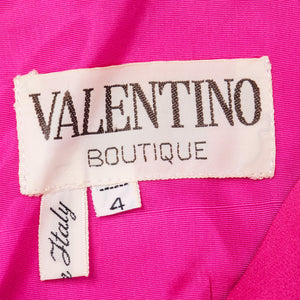 VALENTINO Hot Pink Silk Crepe Goddess Gown, label