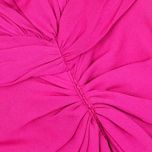 VALENTINO Hot Pink Silk Crepe Goddess Gown, detail 1