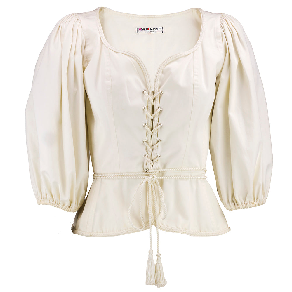 Vintage Ysl 70s Iconic Ivory Peasant Blouse The Way We Wore