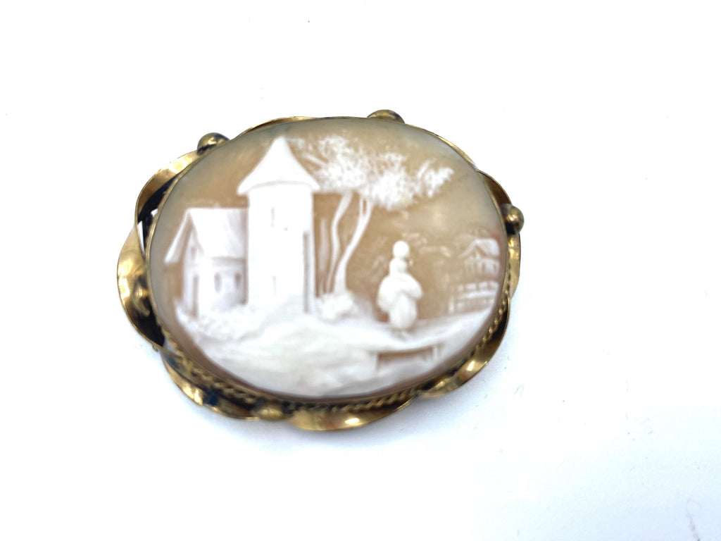 Edwardian Shell Cameo  FRONT 1 of 2
