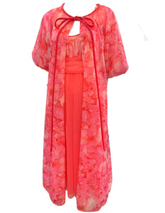 60s Pink and White Negligee Front 1 of 4