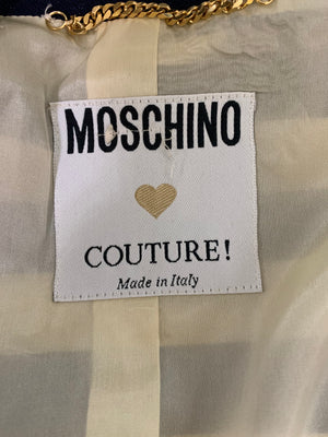 Moschino Couture Striped Ensemble with Dice Closures LABEL 6 of 6