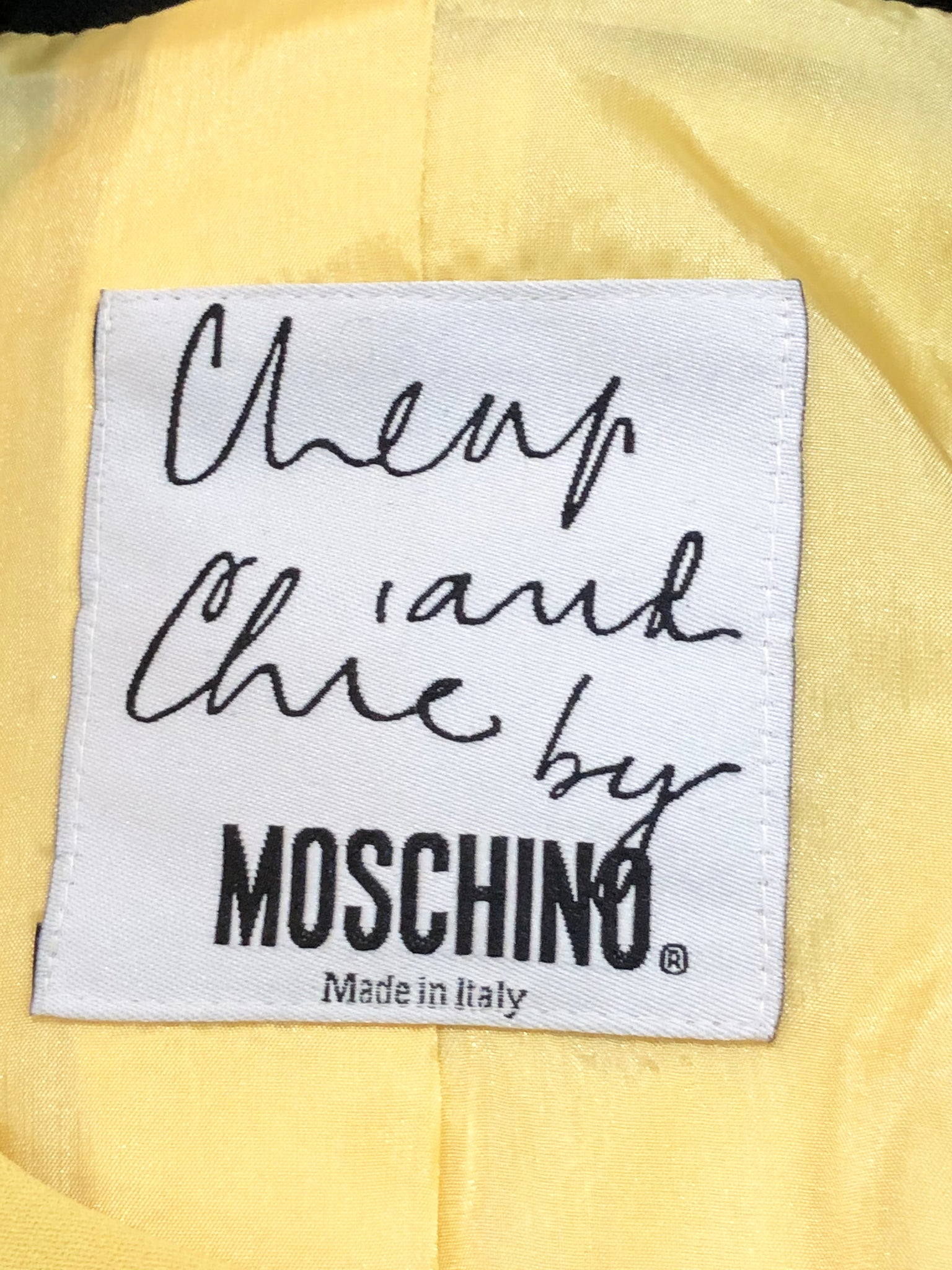 Moschino Yellow and Black Bumblebee Jacket Label 4 of 5