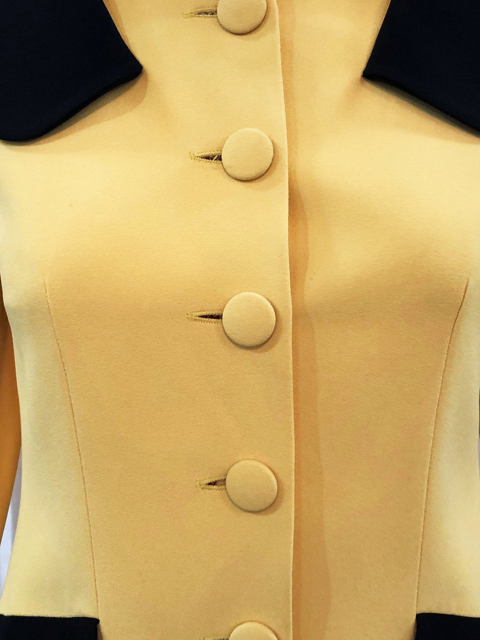 Moschino Yellow and Black Bumblebee Jacket Detail 5 of 5