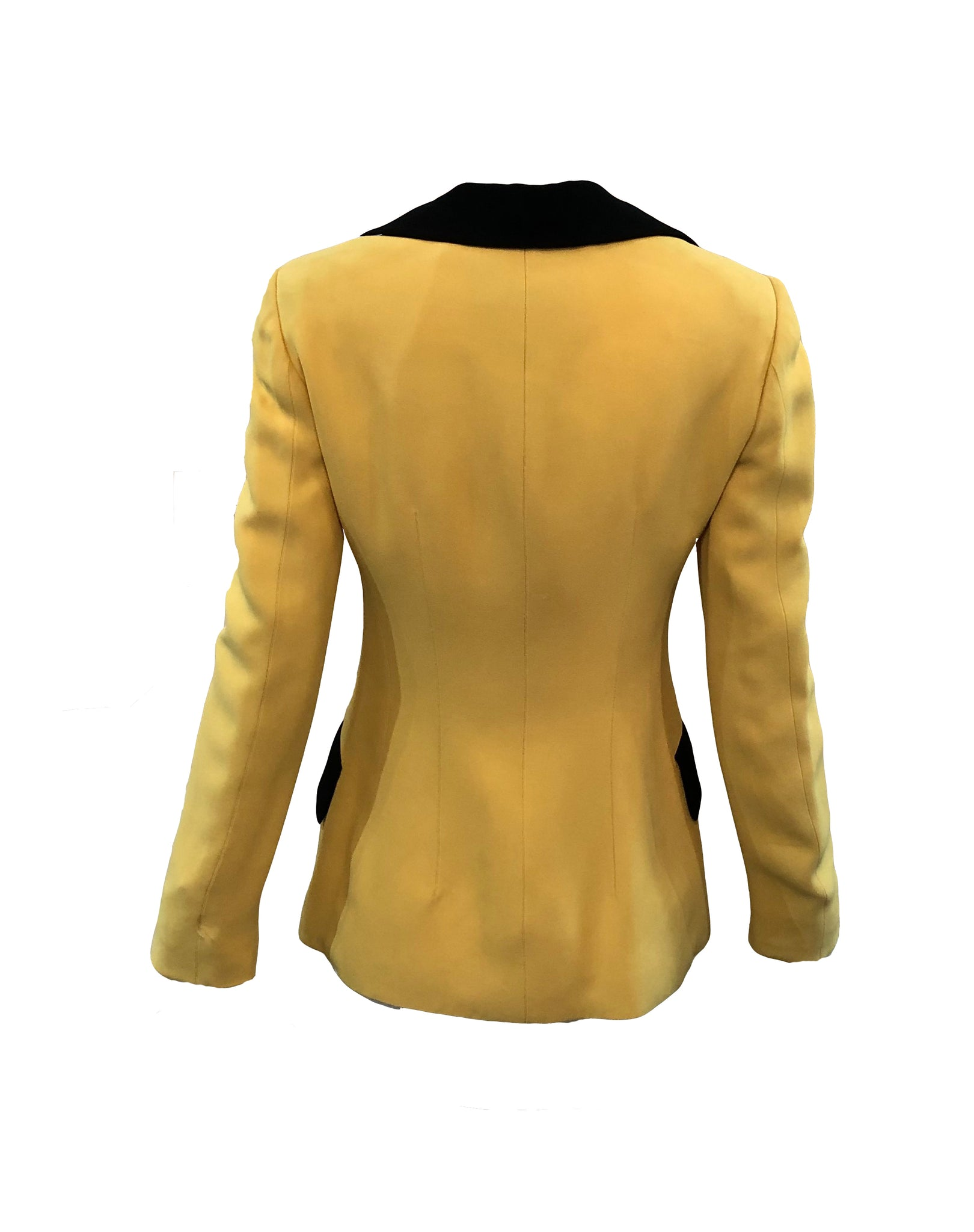 Moschino Yellow and Black Bumblebee Jacket Back 3 of 5