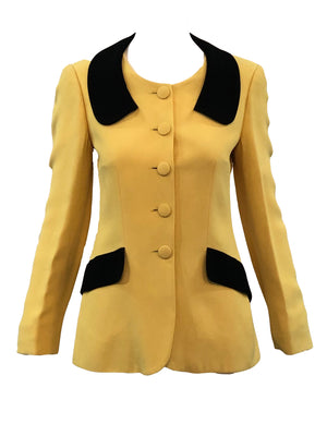 Moschino Yellow and Black Bumblebee Jacket Front 1 of 5